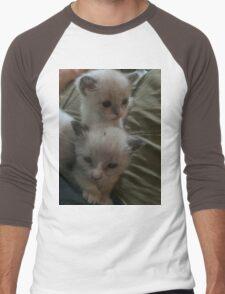 Two Adorable Kittens Men's Baseball ¾ T-Shirt