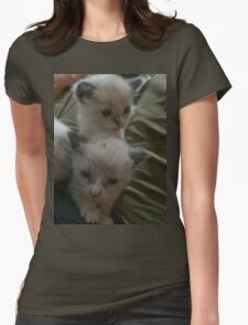Two Adorable Kittens Womens Fitted T-Shirt