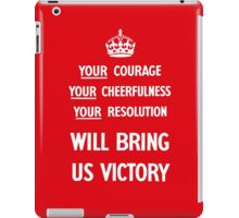 Your Courage Will Bring Us Victory - WW2 iPad Case/Skin