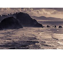 Offshore Rocks in the Pacific 1 - ST Photographic Print