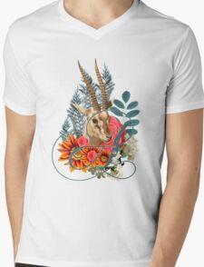 Monogram Letter A Mens V-Neck T-Shirt