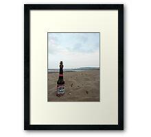 Budweiser Beer Bottle Top Balance Framed Print