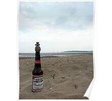 Budweiser Beer Bottle Top Balance Poster