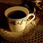 Morning Coffee In Sepia by Linda Miller Gesualdo