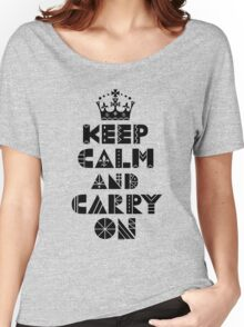 Keep Calm Carry On - black Women's Relaxed Fit T-Shirt