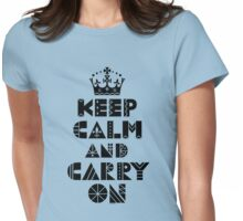 Keep Calm Carry On - black T-Shirt