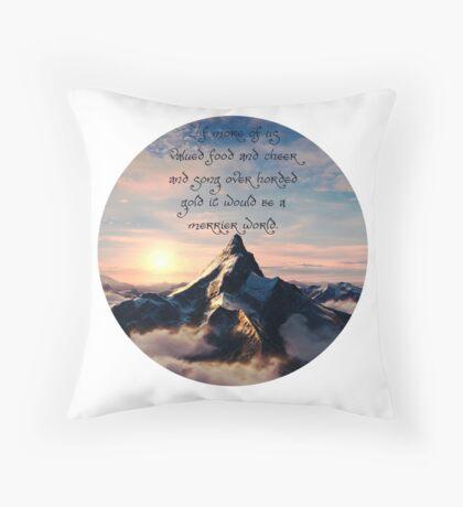 Thorin's Speech- BOTFA Throw Pillow