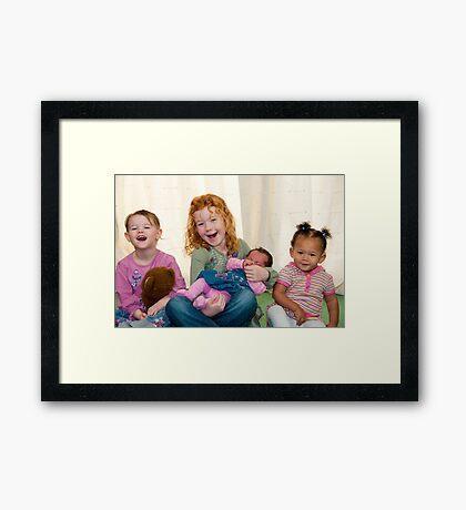 Smiling Children Framed Print
