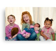 Smiling Children Canvas Print