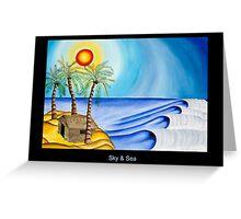 Sky and Sea Postcard Greeting Card