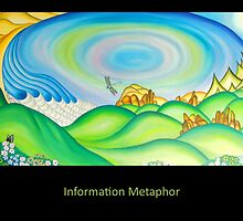 Information Metaphor - Painting by Keith Nesbitt