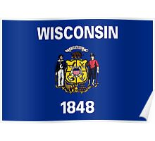 State Flags of the United States of America -  Wisconsin Poster
