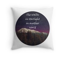 Walks In Starlight- The Hobbit Throw Pillow