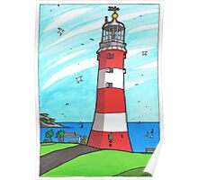 Plymouth Hoe Lighthouse Poster