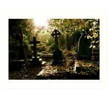 Tombstones in Highgate Cemetery (West) Art Print