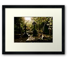 Tombstones in Highgate Cemetery (West) Framed Print