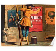 Poster 1870s La publicité en France par Emile Mermet advertising poster ca 1880 Poster