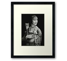 Lady With Two Ermines Framed Print