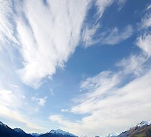 Lake Wakatipu  Sky New Zealand by Barry Culling