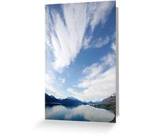 Lake Wakatipu  Sky New Zealand Greeting Card