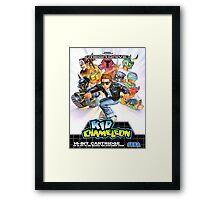 Kid Chameleon Mega Drive Cover Framed Print
