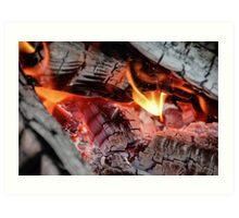 Grey Coals and Fire Art Print