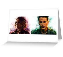 True Detective s2 - Ani Bezzerides and Paul Woodrugh Greeting Card