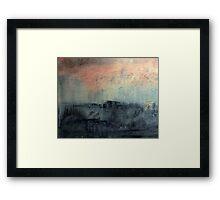 red sky over sea 2 Framed Print