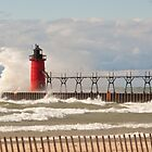 Lighthouse, South Haven, Michigan-2 by Robert Kelch, M.D.