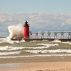 Lighthouse, South Haven, Michigan-3 by Robert Kelch, M.D.