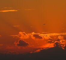 Shining September Sunset by MarianBendeth