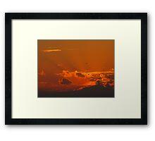 Shining September Sunset Framed Print