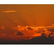 Shining September Sunset Photographic Print