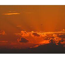 Shining September Sunset Photographic Print
