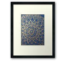 Mandala blue  Framed Print