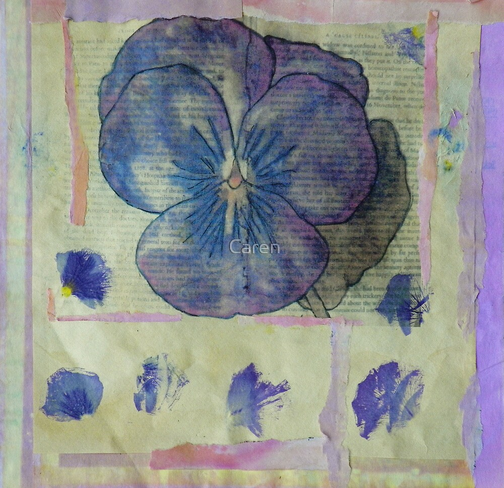 Pansy Collage by Caren