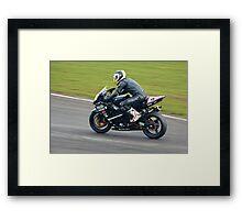 Suzuki GSXR track bike Framed Print