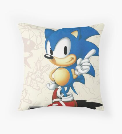 Sonic the Hedgehog Mega Drive Cover Throw Pillow