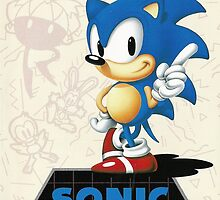 Sonic the Hedgehog Mega Drive Cover by TWMTees