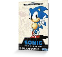 Sonic the Hedgehog Mega Drive Cover Greeting Card