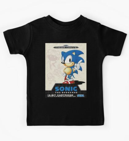 Sonic the Hedgehog Mega Drive Cover Kids Tee