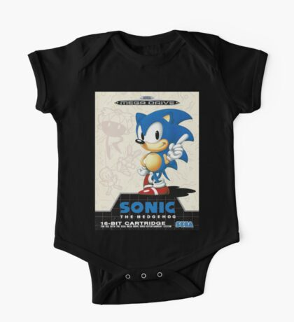 Sonic the Hedgehog Mega Drive Cover One Piece - Short Sleeve