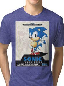 Sonic the Hedgehog Mega Drive Cover Tri-blend T-Shirt