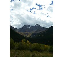 A Fall Dusting of Snow on the Mountains Photographic Print