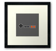 NES Controller Buttons - Colour Framed Print