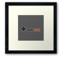 NES Controller Buttons - Colour Framed Print