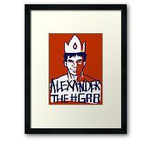Alexander the GR8 Framed Print