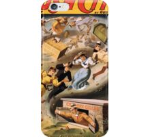 Poster 1890s From Rush City to Cactusville via the cyclone's wave performing arts poster 1894 iPhone Case/Skin