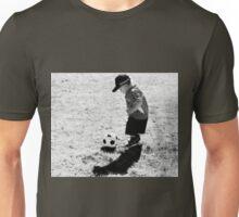 A  Boy And  Soccer Ball Unisex T-Shirt