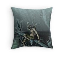 Trilobite Boy and Gargoyles Throw Pillow